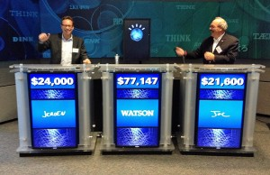 Jeroen Tas (CIO Philips) speelt spelletje Jeopardy tegen Watson