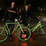 Glow in the dark fiets