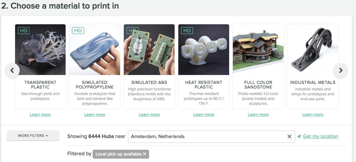 materials 3d hubs