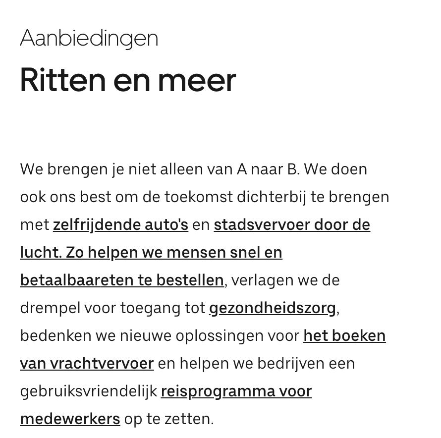 uber en airbnb